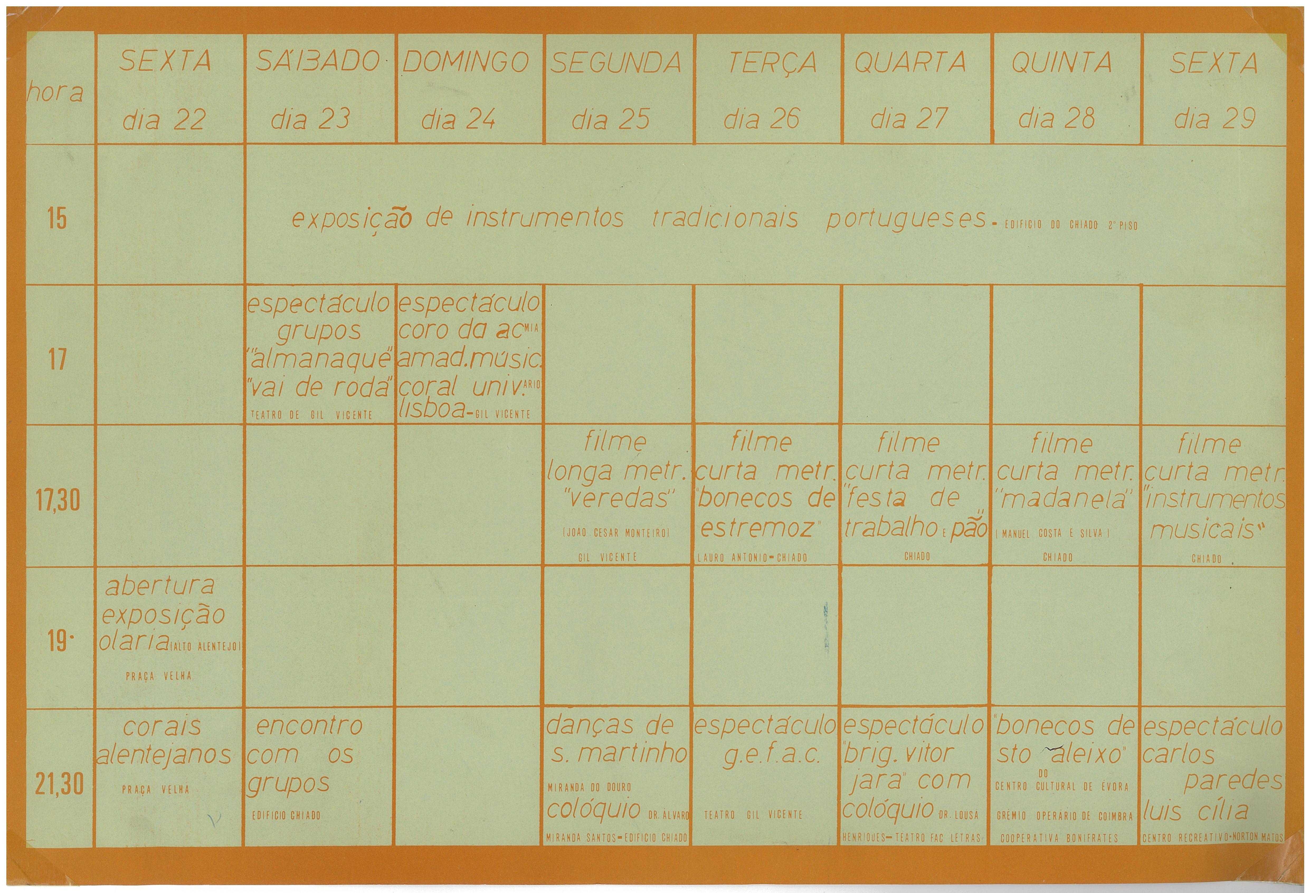 1981_Programa II Jornadas de Cultura Popular GEFAC