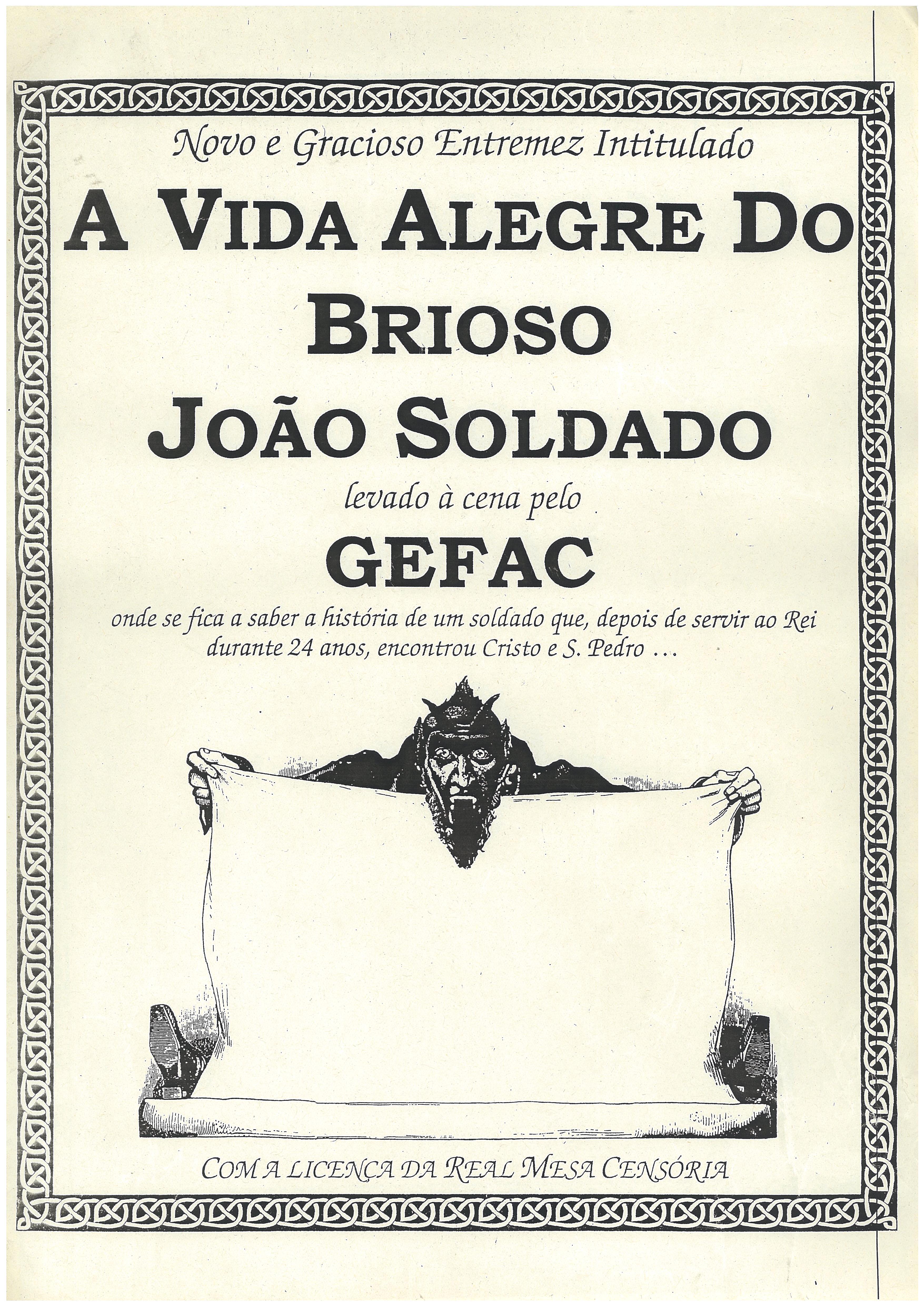 1999_ A Vida Alegre do Brioso João Soldado _ cartaz geral